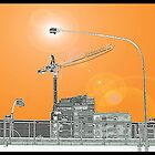 thee Cranes ov Brisbane - ORANGE ONE by craneman