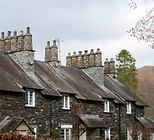 Typical English stone cottages at Skelwith Bridge by photoeverywhere