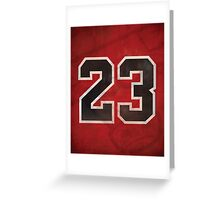 Michael Jordan Chicago Bulls Print Greeting Card
