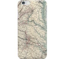 Civil War Maps 1074 Map showing the location of battle fields of Virginia compiled from official war records and maps for the Chesapeake Ohio Railway Co iPhone Case/Skin