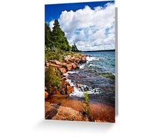 Rocky shore in Georgian Bay Greeting Card