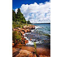 Rocky shore in Georgian Bay Photographic Print