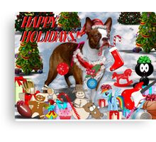 The Santa Dog Canvas Print