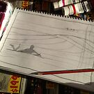 Glide Girl's Sunset Paddle Out - Sketch by David  Bell