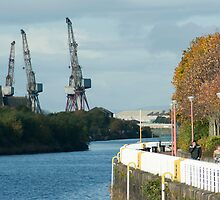 Clyde shipyards in Glasgow Scotland by photoeverywhere