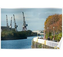 Clyde shipyards in Glasgow Scotland Poster