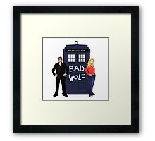 The Ninth Doctor and Rose Framed Print