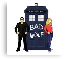 The Ninth Doctor and Rose Canvas Print