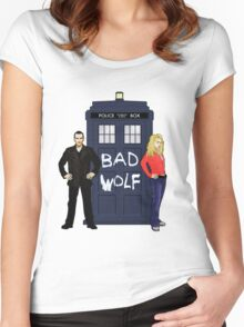 The Ninth Doctor and Rose Women's Fitted Scoop T-Shirt