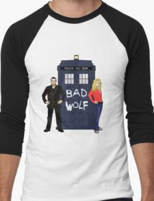 The Ninth Doctor and Rose Men's Baseball ¾ T-Shirt