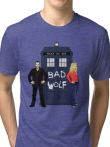 The Ninth Doctor and Rose Tri-blend T-Shirt