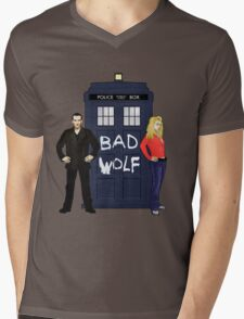 The Ninth Doctor and Rose Mens V-Neck T-Shirt