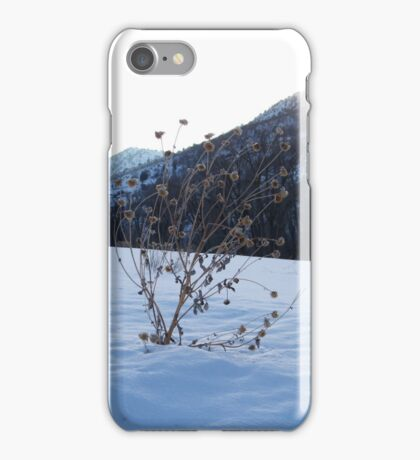 Alone in snow iPhone Case/Skin