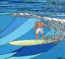 Classic Wave Series ~ Headless Surfer by David  Bell