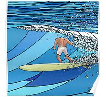 Classic Wave Series ~ Headless Surfer Poster