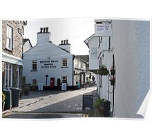 Queens Head Hotel in Hawkshead Poster