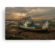 Waiting for the night tide. Canvas Print