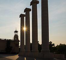 Hot Barcelona Afternoon - Magnificent Columns, Long Shadows and Brilliant Sun Flares by Georgia Mizuleva