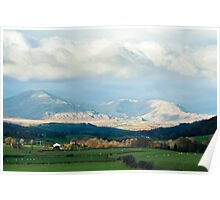 Scenic landscape in the English Lake District Poster
