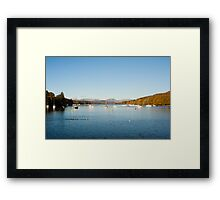 calm waters at fellfoot Framed Print