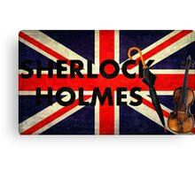 Sherlock Holmes Union Jack Canvas Print