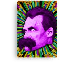Nietzsche Burst 1 - by Rev. Shakes Canvas Print