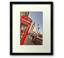 Red Telephone Booth - London Framed Print