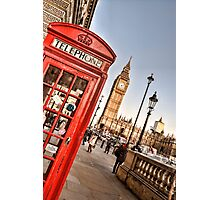 Red Telephone Booth - London Photographic Print