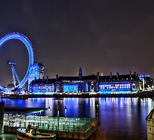 London Eye - From North Bank by eic10412