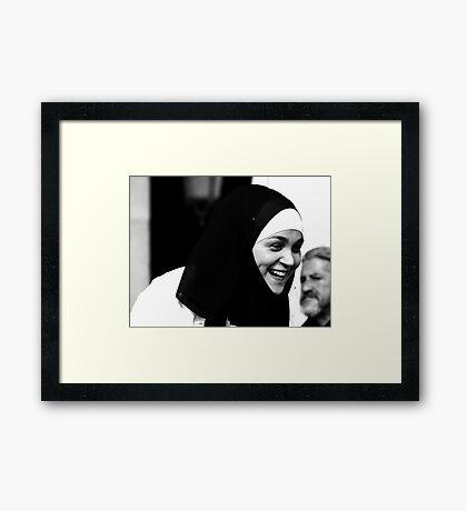 A Smile from Madrid Framed Print