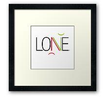 Lone... or Love Framed Print