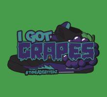 I Got Grapes Black One Piece - Short Sleeve