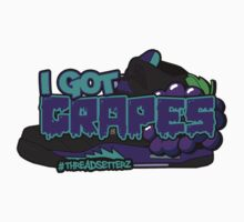 I Got Grapes Black Kids Tee
