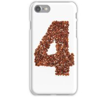 Number four. Coffee background iPhone Case/Skin
