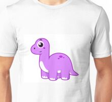 Cute illustration of a Brontosaurus dinosaur. Unisex T-Shirt