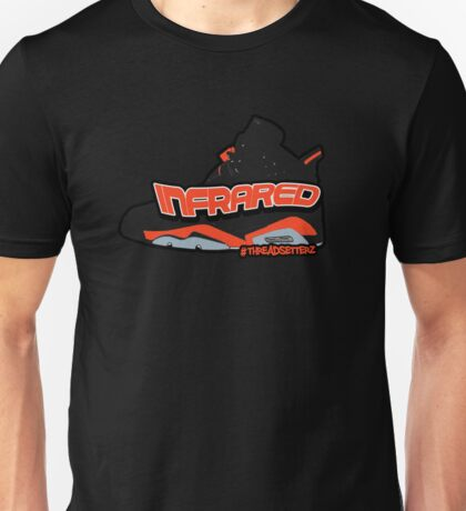 Infrared 6's Black Unisex T-Shirt