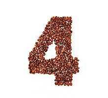 Number four. Coffee background Photographic Print