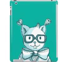 Funny hipster squirrel in glasses iPad Case/Skin