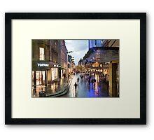 Sauchiehall Street in Glasgow at night Framed Print