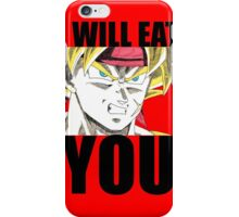 Bardock Will Eat You! (Text) iPhone Case/Skin