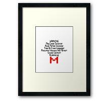 Electronic Super Joy! Framed Print
