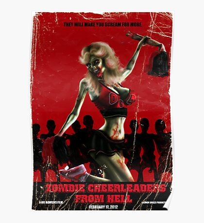 Zombie Cheerleader From Hell Poster