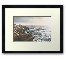 Ocean (Rocks Within the Misty Blue) Framed Print