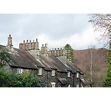 Row of quaint stone cottages at Skelwith Bridge Photographic Print