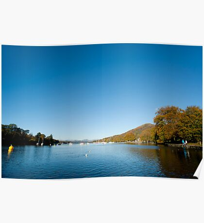 Placid waters of Lake Windermere Poster