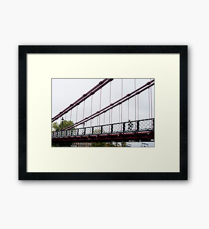 South Portland Suspension Bridge, Glasgow Framed Print
