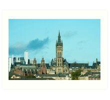 University of Glasgow, Gilmorehill campus Art Print