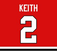 Chicago Blackhawks Duncan Keith Jersey Back Phone Case by Russ Jericho