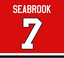 Chicago Blackhawks Brent Seabrook Jersey Back Phone Case by Russ Jericho