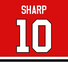 Chicago Blackhawks Patrick Sharp Jersey Back Phone Case by Russ Jericho